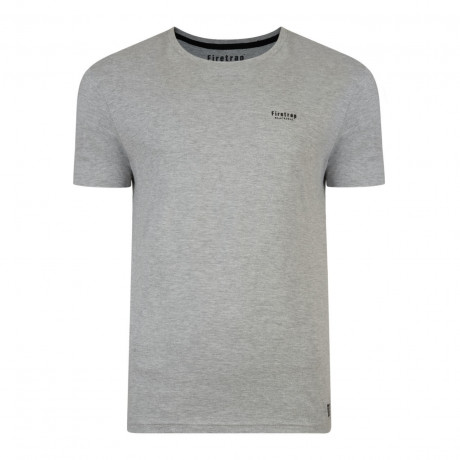Firetrap Basic Crew Neck Cotton Plain T-shirt Grey Marl | Jean Scene