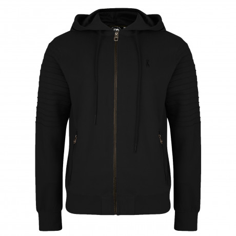 Ringspun Men's Pendle Zip Up Hoodie Black | Jean Scene
