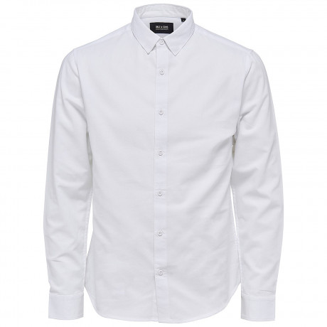 Only & Sons Slim Andy Long Sleeve Shirt White | Jean Scene