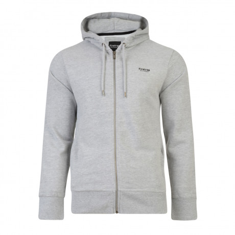 Firetrap Men's Rawding Zip Up Hoodies Grey Marl | Jean Scene