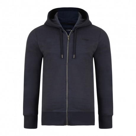 Firetrap Men's Rawding Zip Up Hoodie Navy | Jean Scene
