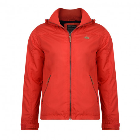 Lee Cooper Men's Hooded Fleece Lined Jacket Red | Jean Scene