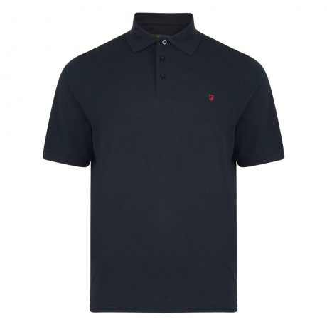Farah Big Polo Pique T-Shirt Black Ink | Jean Scene