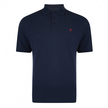Farah Big Polo Pique T-Shirt True Navy | Jean Scene