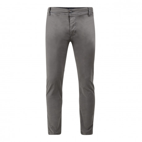 Threadbare Saloon Slim Fit Cotton Chinos Grey Grey | Jean Scene