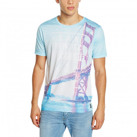 Firetrap Print Summer T-Shirt Sunny Beach Party San Francisco | Jean Scene
