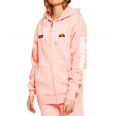 Ellesse Womens Women's Serinatas FZ Zip Up Hoodie Light Pink | Jean Scene