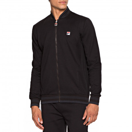 Fila Men's Settanta Retro Track Jacket Black | Jean Scene