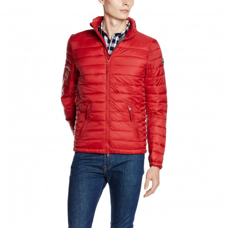 Crosshatch Quilted Padded Puffer Jacket Chill Pepper | Jean Scene