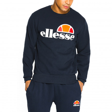 Ellesse Men's Succiso Logo Crew Neck Sweatshirt Dress Blues | Jean Scene