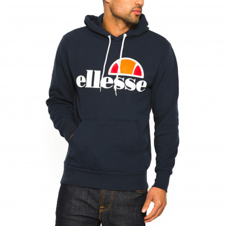 Ellesse Men's Gottero Logo Overhead Hoodie Dress Blues | Jean Scene