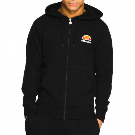 Ellesse Men's Miletto Logo Zip Up Hoodie Anthracite | Jean Scene