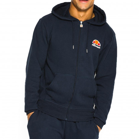 Ellesse Men's Miletto Logo Zip Up Hoodie Dress Blues | Jean Scene