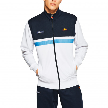 Ellesse Men's Transimeno Authentic Retro Track Jacket Optic White | Jean Scene