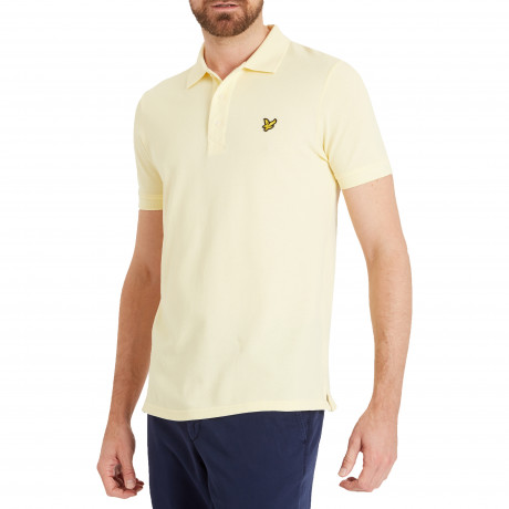 Lyle & Scott Polo Pique T-Shirt Butter Cream | Jean Scene