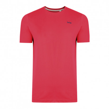Lee Cooper Basic Crew Neck Cotton Plain T-shirt Red | Jean Scene