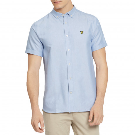 Lyle & Scott Oxford Shirt Short Sleeve Riviera | Jean Scene