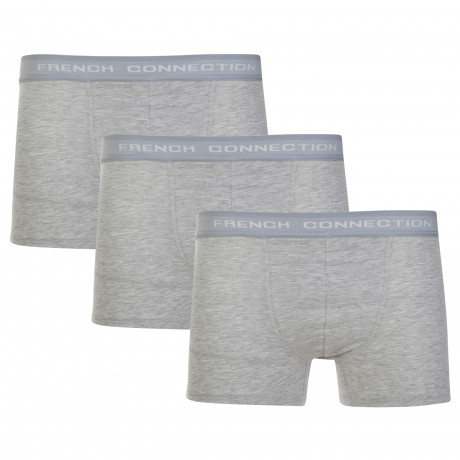 French Connection Men's 3 Pack Boxer Shorts Underwear Grey | Jean Scene