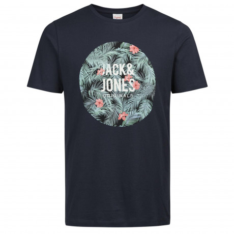 Jack & Jones Originals Crew Neck Newport Print T-shirt Total Eclipse | Jean Scene