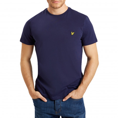 Lyle & Scott Crew Neck Short Sleeve T-Shirt Navy | Jean Scene