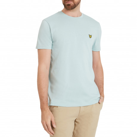 Lyle & Scott Crew Neck Short Sleeve T-Shirt Powder Blue | Jean Scene