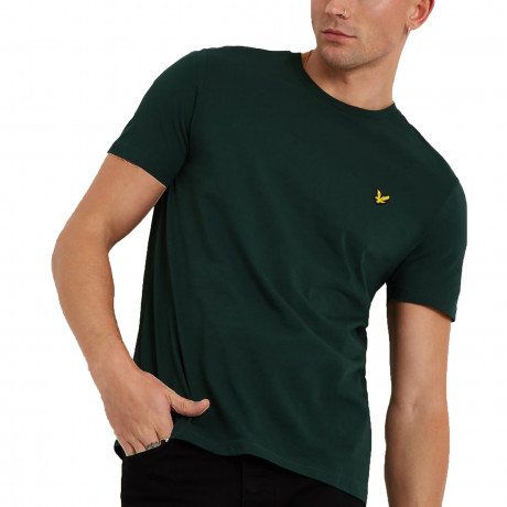 Lyle & Scott Crew Neck Short Sleeve T-Shirt Jade Green | Jean Scene