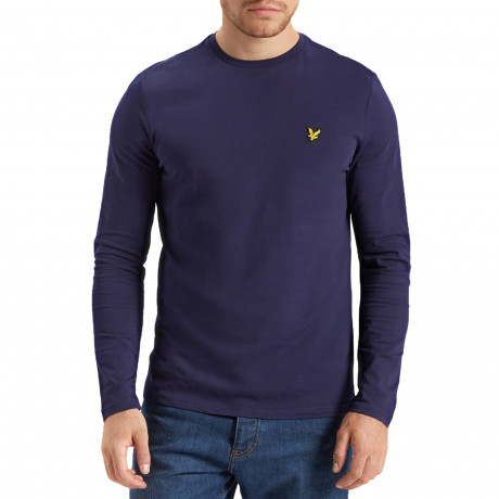 Lyle & Scott Crew Neck Long Sleeve T-Shirt Navy | Jean Scene