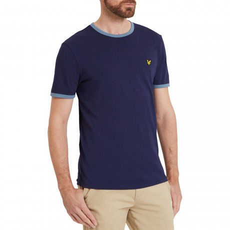 Lyle & Scott Crew Neck Short Sleeve T-Shirt Navy | Jean Scene