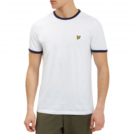 Lyle & Scott Crew Neck Short Sleeve T-Shirt White | Jean Scene