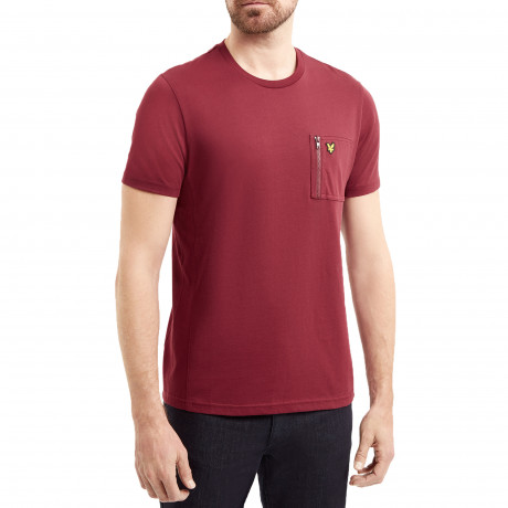 Lyle & Scott Crew Neck Short Sleeve T-Shirt Claret Jug | Jean Scene