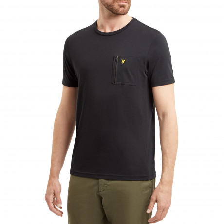 Lyle & Scott Crew Neck Short Sleeve T-Shirt True Black | Jean Scene