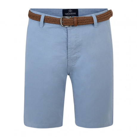Threadbare Belted Cotton Summer Chino Shorts Pale Blue | Jean Scene