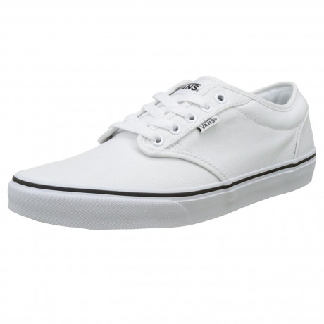 Vans Mens Atwood Black Foxing Shoes Trainers White | Jean Scene