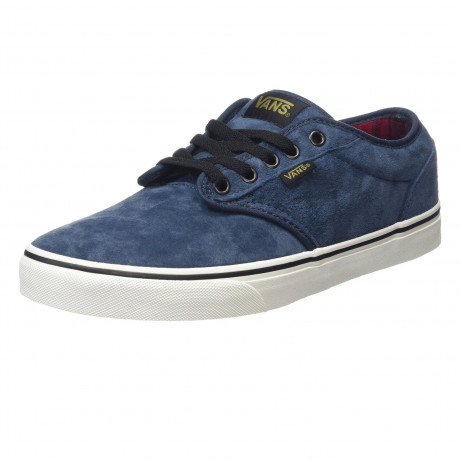 Vans Men's Atwood All Weather Leather Shoes Flannel Navy | Jean Scene