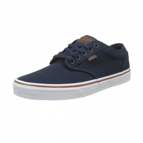Vans Mens Atwood Canvas Shoes Trainers Dress Blue | Jean Scene
