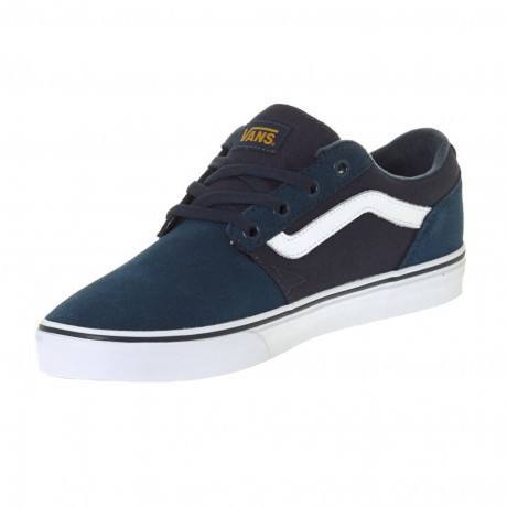 Vans Men's Chapman Stripe Shoes Trainers Navy Gold | Jean Scene