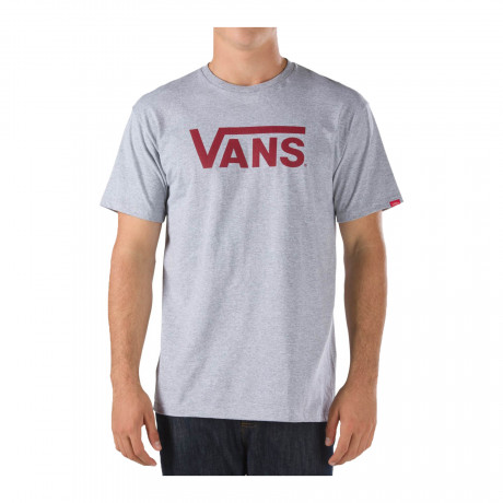 Vans Crew Neck Print T-shirt Athletic Grey | Jean Scene