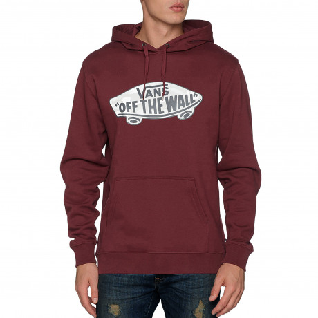 VANS Men's Off The Wall Logo Pullover Hooded Sweatshirt Port Royale Snow Camo | Jean Scene