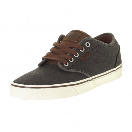 Vans Mens Atwood Deluxe Twill Shoes Trainers Chestnut | Jean Scene