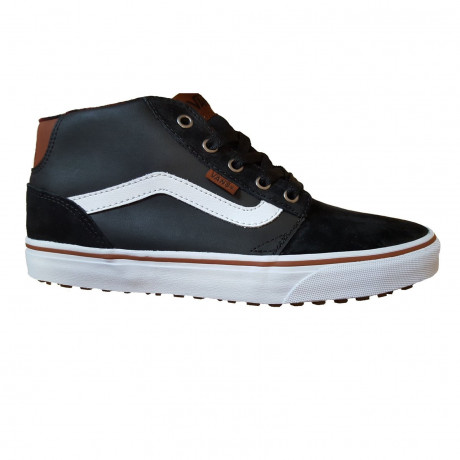 Vans Men's Chapman Mid Stripe Shoes Trainers Black Bungee | Jean Scene