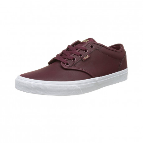 Vans Men's Atwood Leather Shoes Port White | Jean Scene