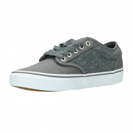 Vans Men's Atwood C&L Canvas Shoes Trainers Pewter White | Jean Scene