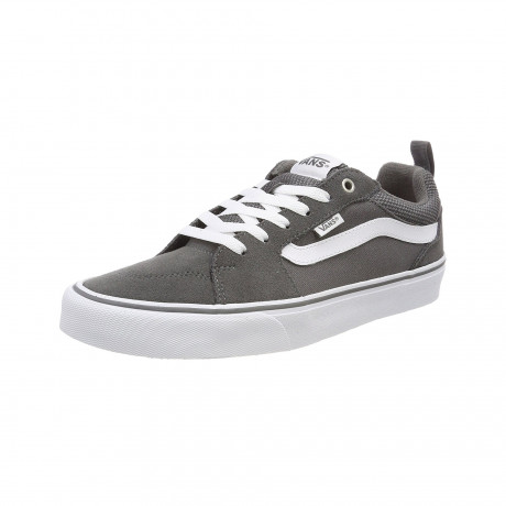 Vans Men's Filmore Suede Shoes Pewter White | Jean Scene