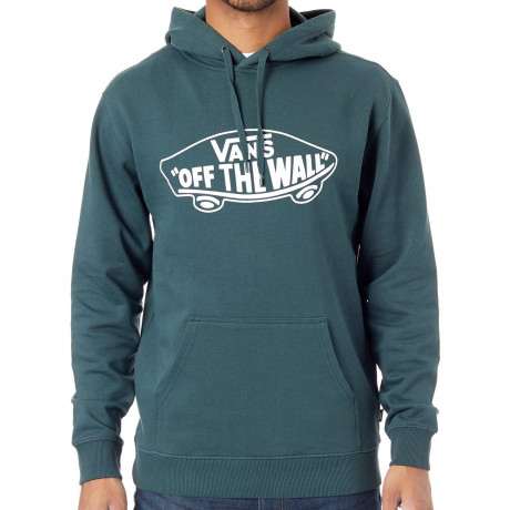 VANS Men's Off The Wall Logo Pullover Hooded Sweatshirt Darkest Spruce | Jean Scene