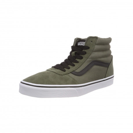 Vans Men's Ward Hi Suede Canvas Shoes Dusty Olive | Jean Scene