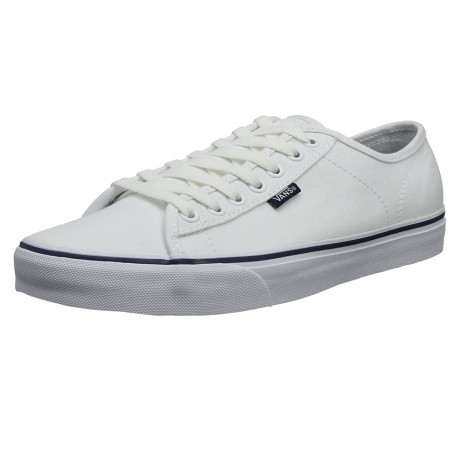 Vans Men's Ferris Low Canvas Shoes Trainers White Peacoat | Jean Scene