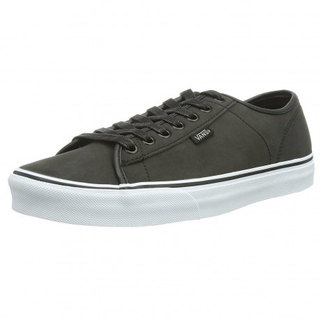 Vans Men's Ferris Leather Buck Shoes Trainers Grey White | Jean Scene