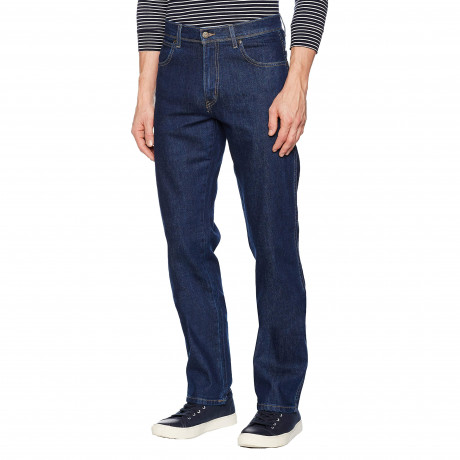 Wrangler Basic Denim Jeans Dark Blue Darkstone | Jean Scene