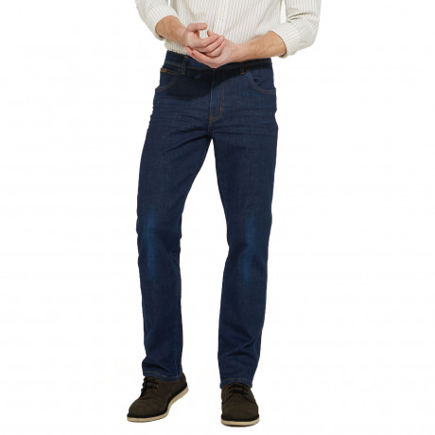 Wrangler Texas Stretch Denim Jeans Nightfall Blue   Jean Scene