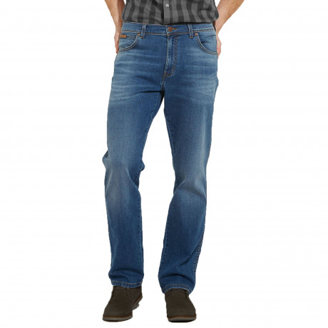 Wrangler Texas Stretch Denim Jeans Beyond Blue | Jean Scene